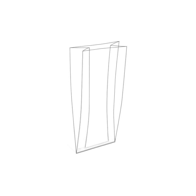 Plastic zakken met zijvouw tot 40 cm breed per 100 stuks for Ladeblok 40 cm breed