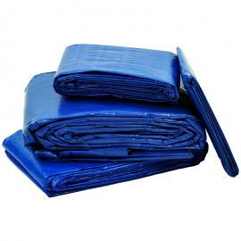 Afdekzeil blauw standaard (150gr/m²)