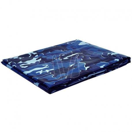 Afdekzeil camouflage blauw (125gr/m²)