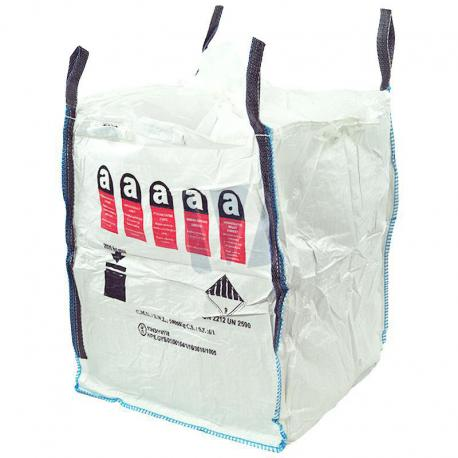 Big bag met asbestlogo