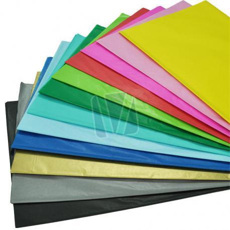 Gekleurd zijdevloeipapier