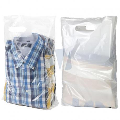 Plastic draagtassen wit