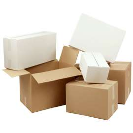 Kartonnen dozen dubbele golf (per 15 stuks)